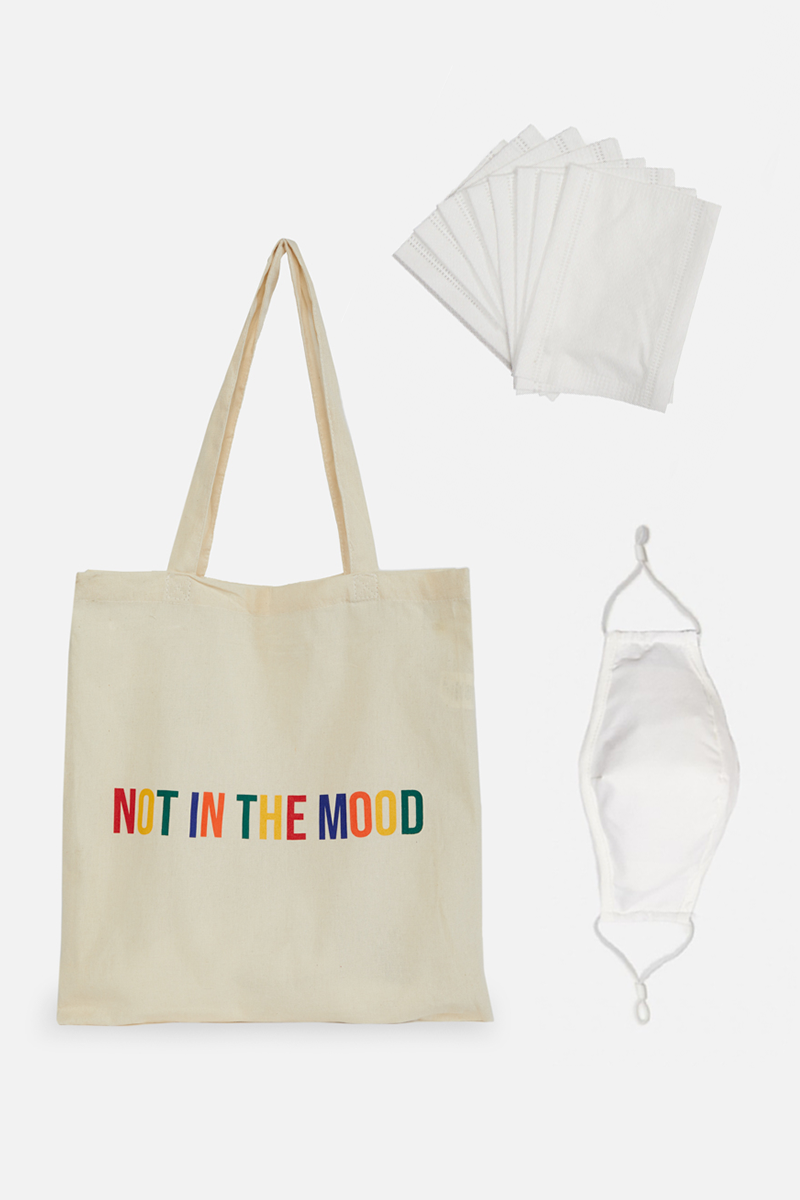 Not In The Mood Tote & Face Mask Bundle