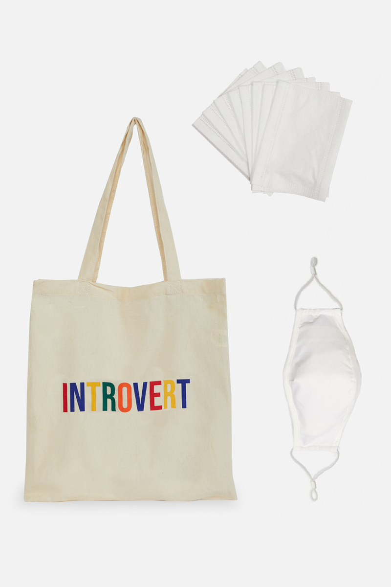Introvert Tote & Face Mask Bundle