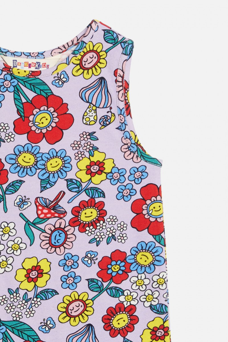 Flower Face Jersey Dress