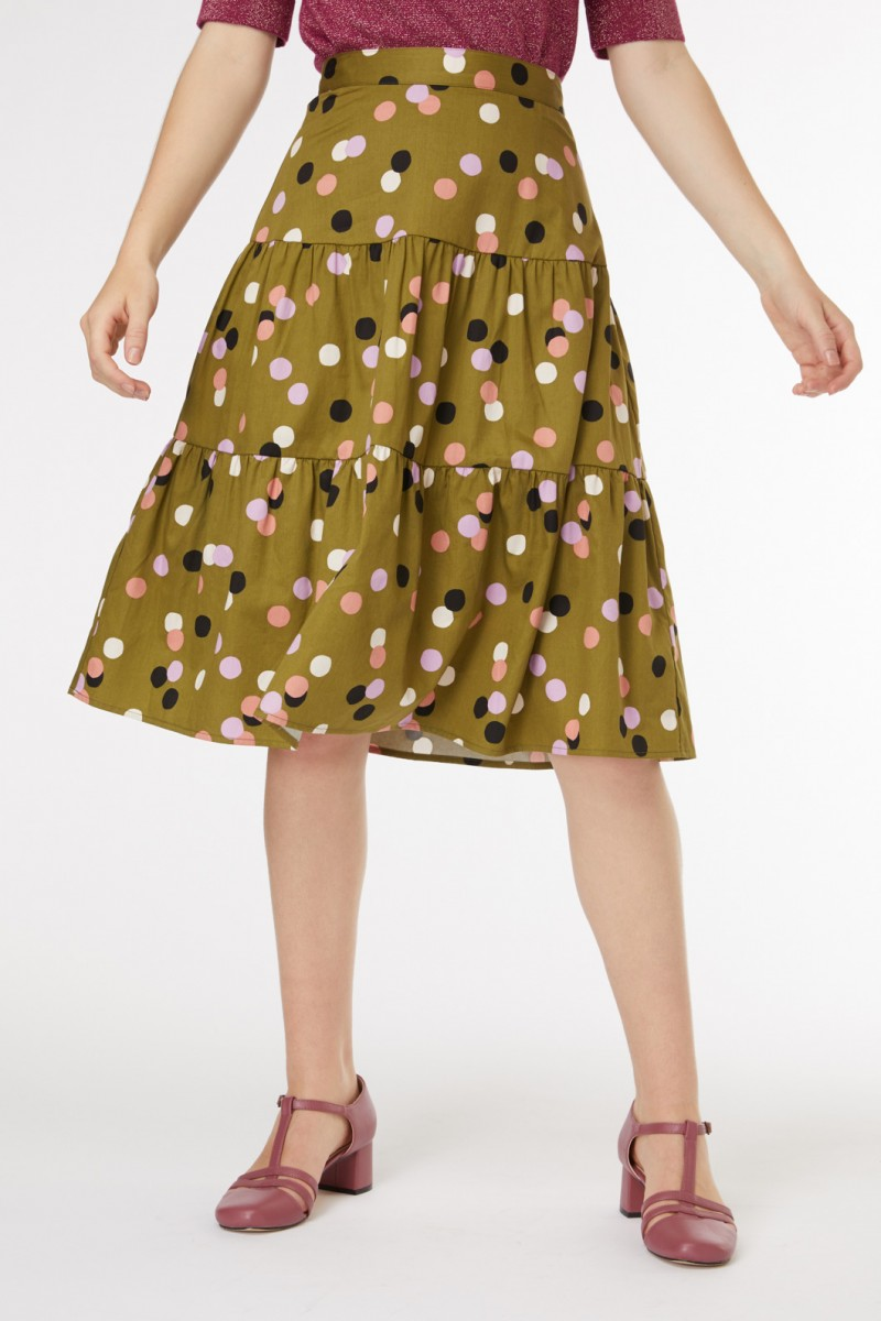 Nancy Spot Skirt