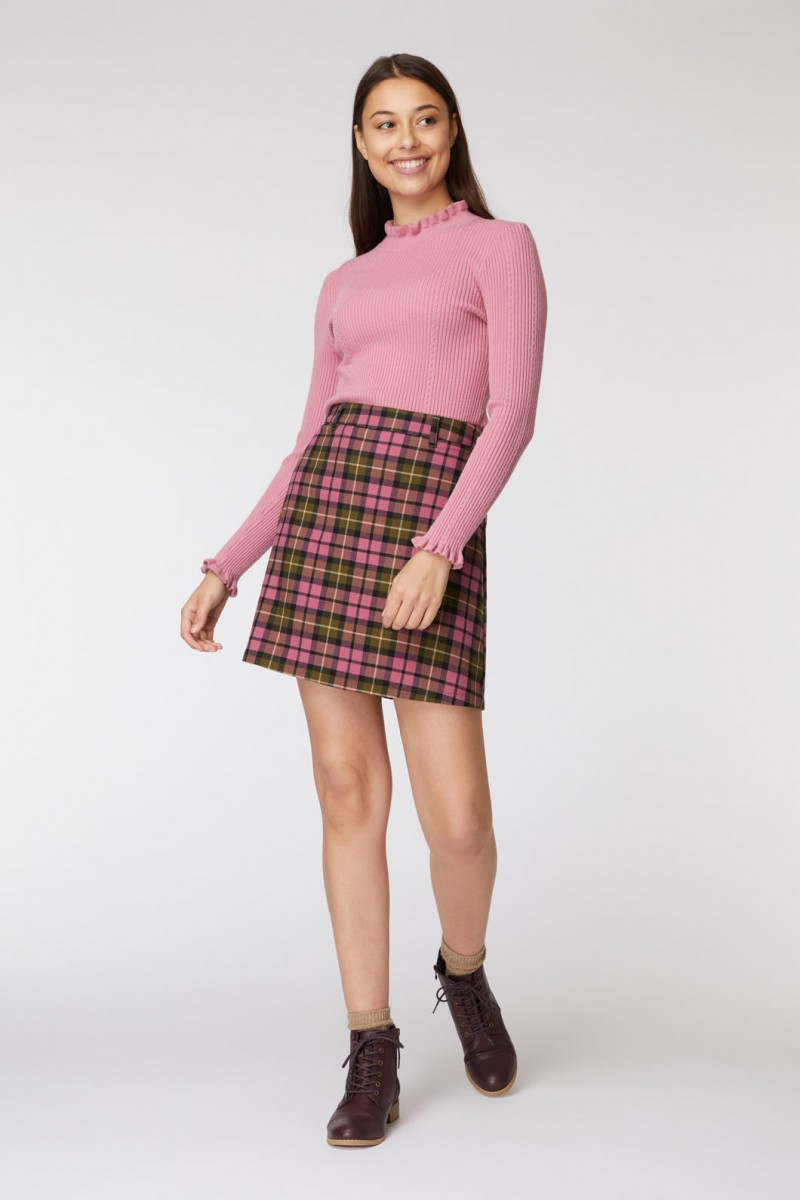 Georgie Check Skirt