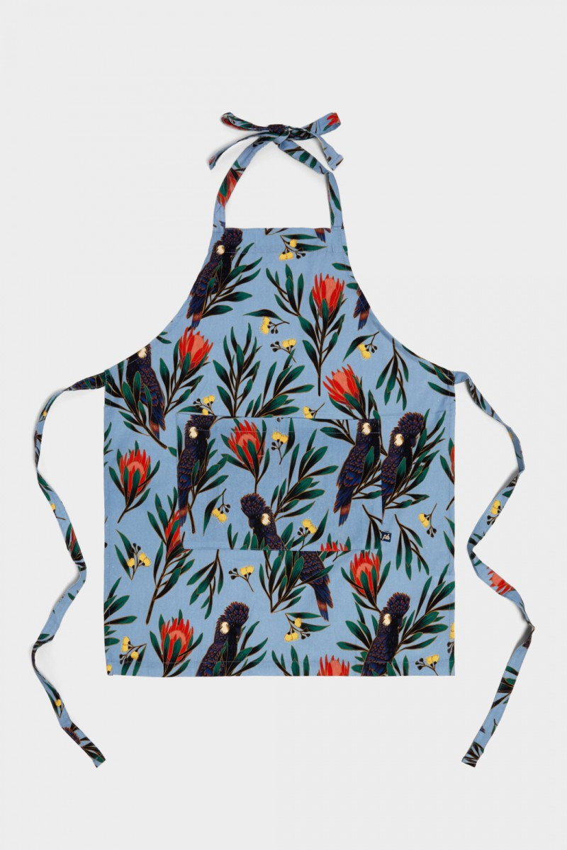 Cockatoo And Protea Apron