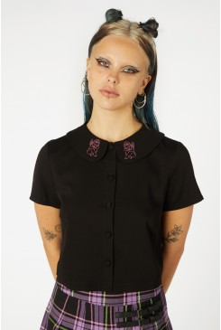 Cupid Embroid Collar Blouse