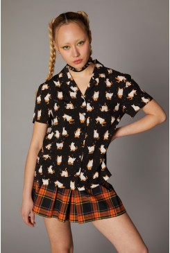 Spooky Ghost Kitty Blouse