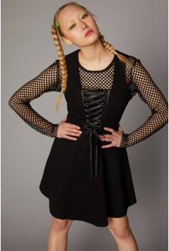 Laced Bodice Goth Pinafore