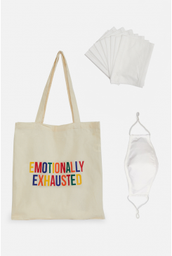 Emotionally Exhausted Tote & Face Mask Bundle