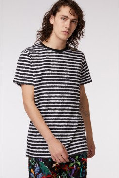 Dallas Stripes Ringer Tee