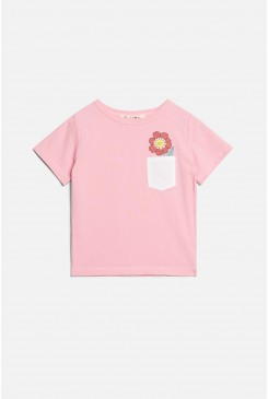 Flower Face Pocket Tee