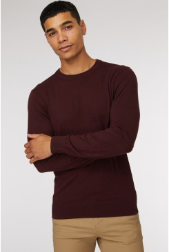 Burgundy Crew Neck Knit