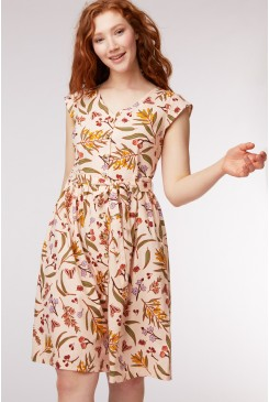 Golden Flora Dress