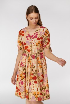 Variety Garden Button F Dress