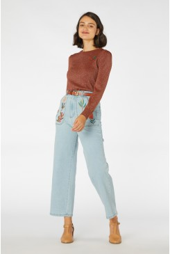 Bella Native Embroidered Jean