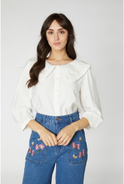 Susie Large Collar Blouse