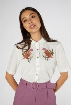 Quokka Embroidered Blouse