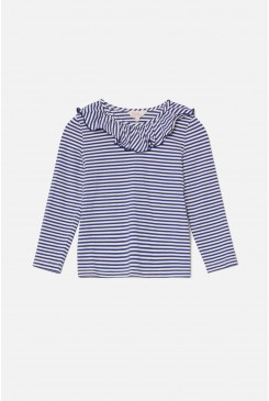 Seaside Stripe Frill Top