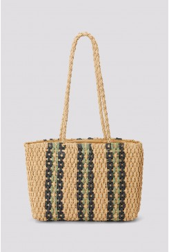 Striped Weave Bag