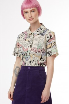 Comic Book Blouse