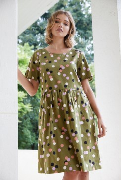 Nancy Spot Dress